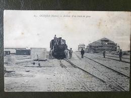 OUDJDA Train Entre En Gare Locomotive à Vapeur - Gares - Avec Trains
