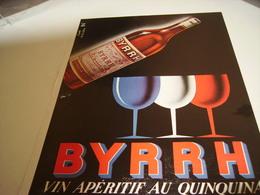ANCIENNE PUBLICITE VIN APERITIF BYRRH   1953 - Alcoholes