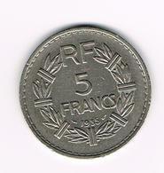 &-  FRANKRIJK 5 FRANCS 1935 - France