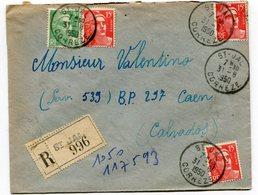 CORRREZE De SAINT JAL   Env. Recom. De   1950 Avec Dateur  A 7 - Marcophilie (Lettres)