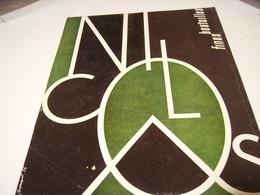 ANCIENNE PUBLICITE VIN LE NICOLAS FINES BOUTEILLE 1954 - Alcoholes