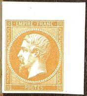 RARE EPREUVE TAILLE DOUCE NAPOLEON N°13 Bistre SANS FACIAL POINCONS ORIGINAUX - 1853-1860 Napoléon III