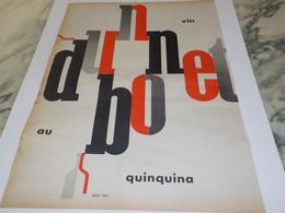 ANCIENNE PUBLICITE DUBONNET APERITIF 1956 - Alcoholes
