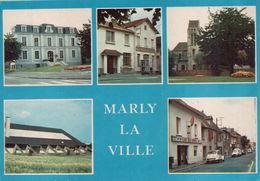 MARLY LA VILLE : L'Hôtel De Ville - La Poste - L'Eglise St Etienne - Le Gymnase - Le Café Des Sports - Marly La Ville