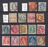 SUISSE 1900 1907  Cote 41€ HELVETIA - 1882-1906 Wappen, Stehende Helvetia & UPU