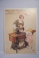 NOUVELLE  MACHINE A COUDRE  SINGER  - ENFANTS - CALENDRIER 1989 -  ( Pas De Reflet Sur L'original ) - Publicité