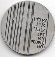 Israel Jeton Let My People Go 1972 - Tokens & Medals