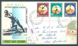 PAPUA NEW GUINEA - REGISTERED FDC  - 31.8.1966 - SOUTH PACIFIC GAMES - Yv 98-100 -  Lot 17701 - Papouasie-Nouvelle-Guinée