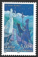 ANDORRE  2002 -  YT 564 - La Dame Blanche  - NEUF** - Cote   20e - Andorre Français