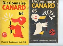 Lot De 2 Dictionnaires Du Canard Enchainé - 1964 Et 1965 - Journaux - Quotidiens