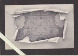 Banque De France - Billet De 100 Francs Daté :  20 = 4 = 97   (CP Précurseur En Lithographie) - Monnaies (représentations)