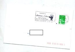 Lettre Flamme Vesoul Cinema D'asie Sur Roulette Theme Velo - Postmark Collection (Covers)