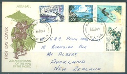 PAPUA NEW GUINEA - FDC  - 30.8.1967 - 25th ANNIVERSARY OF THE WARS - Yv 118-121 -  Lot 17703 - Papouasie-Nouvelle-Guinée