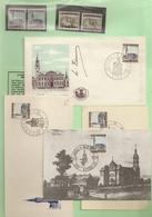 """BELG.1966 1397 & 1398 Zegels ** & ° """"plus 3 X FDC + Maxikaart Van 1398"""" - 1961-70"""