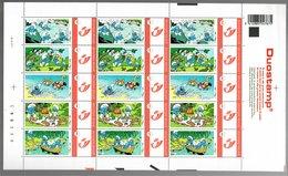 België/Belgique Duostamp 2007 Les Schtroumpfs De Smurfen (Peyo) 2/2 - Volledige Vellen