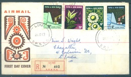 PAPUA NEW GUINEA - REGISTERED FDC  - 28.6.1967 - INDUSTRIAL EQUIPMENT - Yv 114-117 -  Lot 17704 - Papouasie-Nouvelle-Guinée