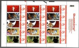 België/Belgique Duostamp 2008 Largo Winch (Jean Van Hamme, Philippe Francq) - Volledige Vellen
