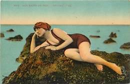 - Themes -ref.A830 - Baigneuses - Baigneuse - Bains De Mer - Reverie  - Carte Bon Etat - - Autres