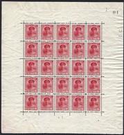 1921 Feuillet/Kleinbogen 5x5,  GD Charlotte De Face 15c. Carmin, Michel: 121, Neuf, Sans Charnière (2scans) - Blocs & Feuillets