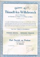 ANCIENNES ACTIONS BELGES : 4 Différentes : Thisselt, Clabecq, Bollinckx, Tramways D'Odessa. - Hist. Wertpapiere - Nonvaleurs