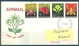 PAPUA NEW GUINEA - FDC  - 27.8.1969 - ORCHID - Yv 160-163 -  Lot 17705 - Papouasie-Nouvelle-Guinée