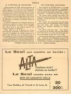- Themes -ref.A826 - Publicite Stylo Plume Alta - Publicites - Ecriture - Carte 2 Volets - Parsi - Montmartre - 18  Arr - Publicité