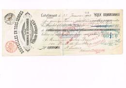 MANDAT A ORDRE : VERRERIES DE DESCHASSIS LODELINSART : 1902 - Belgien