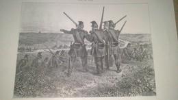Dessin LITHOGRAPHIE - Saint Pierre - Marche Sur Rome En Quittant La Maglianella  30/06/1849 - Affiches
