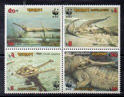 BANGLADESH   - Timbres Neufs ** De  1990     ( Ref 5503 )   Animaux -reptiles -crocodiles - Bangladesh