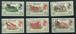 Ethiopie Ob N° 371 à 376 - Faune Sauvage - Ethiopie