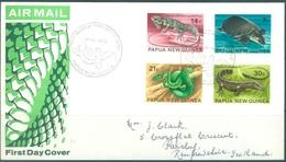 PAPUA NEW GUINEA - FDC  - 17.3.1972 - REPTILE - Yv 217-220 -  Lot 17708 - Papua-Neuguinea