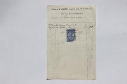 Etude Me Messimy Notaire à Lyon (Rhône), Etat Frais Et Honoraires, 1879 - Collections