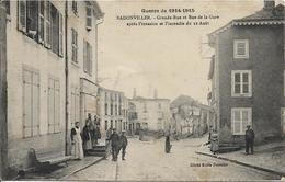 D54 - BADONVILLER - GRANDE RUE ET RUE DE LA GARE APRES L'INVASION ET L'INCENDIE DU 12 AOUT - GUERRE 1914-1915 - France