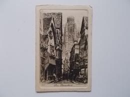 CPA 76 - ROUEN Eau-forte Par Ch.PINET Nr.10, Rue Damiette- Carte Originale NO REPRO, - Rouen