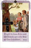 """Original Farb. Künstler-Postkarte """"Hundertjahrfeier 1813-1913 - Vergiß Die Treuen Toten Nicht..."""" Ungebraucht - Guerres - Autres"""