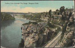 Trolley Line Through The Gorge, Niagara Falls, New York, 1913 - Curt Teich Postcard - Other