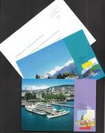 Switzerland Bern 2003 / Zurichsee, Thunersee / Lake Of Zurich, Lake Of Thun / Castle, Ship / Postal Stationery Card - Enteros Postales