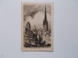 CPA 76 - ROUEN Eau-forte Par Ch.PINET Nr.3, Rue De L'épicerie- Carte Originale NO REPRO, - Rouen