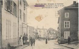 D54 - BADONVILLER - GRANDE RUE ET RUE DE LA GARE APRES L'INCENDIE DU 12 AOUT - GUERRE 1914 - INVASION EN LORRAINE - France