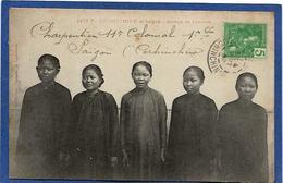 CPA Cochinchine Types Asie Indochine Saïgon Circulé - Viêt-Nam