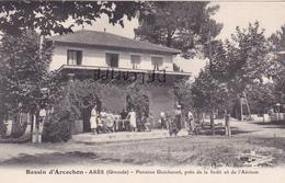 """33-ARES (GIRONDE)- PENSION """"GUICHENET"""", Près De La Forêt Et De L'Aérium-Edit. A. BIENVENU-Animation - Arès"""