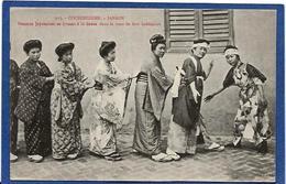CPA Cochinchine Types Asie Indochine Non Circulé Femmes Japonaises Danse - Viêt-Nam