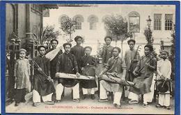 CPA Cochinchine Types Asie Indochine Non Circulé Musiciens Saïgon - Viêt-Nam