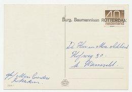 Nieuwjaarshandstempel : Burg. Baumannlaan Rotterdam - Periodo 1949 - 1980 (Giuliana)