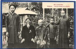CPA Cochinchine Types Asie Indochine Non Circulé Chef De Canton Saïgon - Viêt-Nam