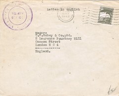 29475. Carta TEL AVIV (Palestine) 1942. To England - Palestina