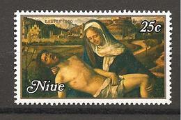 NIUE - 1980 GIOVANNI BELLINI Pietà Martinengo (Gallerie Accademia, Venezia) 25c  Nuovo** MNH - Religione