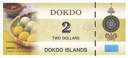 Specimen Île DOKDO Corée 2 Dollars 2012 UNC - Fictifs & Spécimens