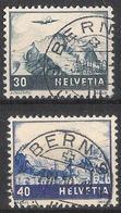 Schweiz Suisse 1948: Farbänderungen Zu F43-44 Mi 506-7 Yv PA 43-44 Mit Voll-o Von BERN 1950 (Zu CHF 20.00) - Oblitérés