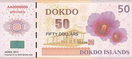Specimen Île DOKDO Corée 50 Dollars 2012 UNC - Fictifs & Spécimens